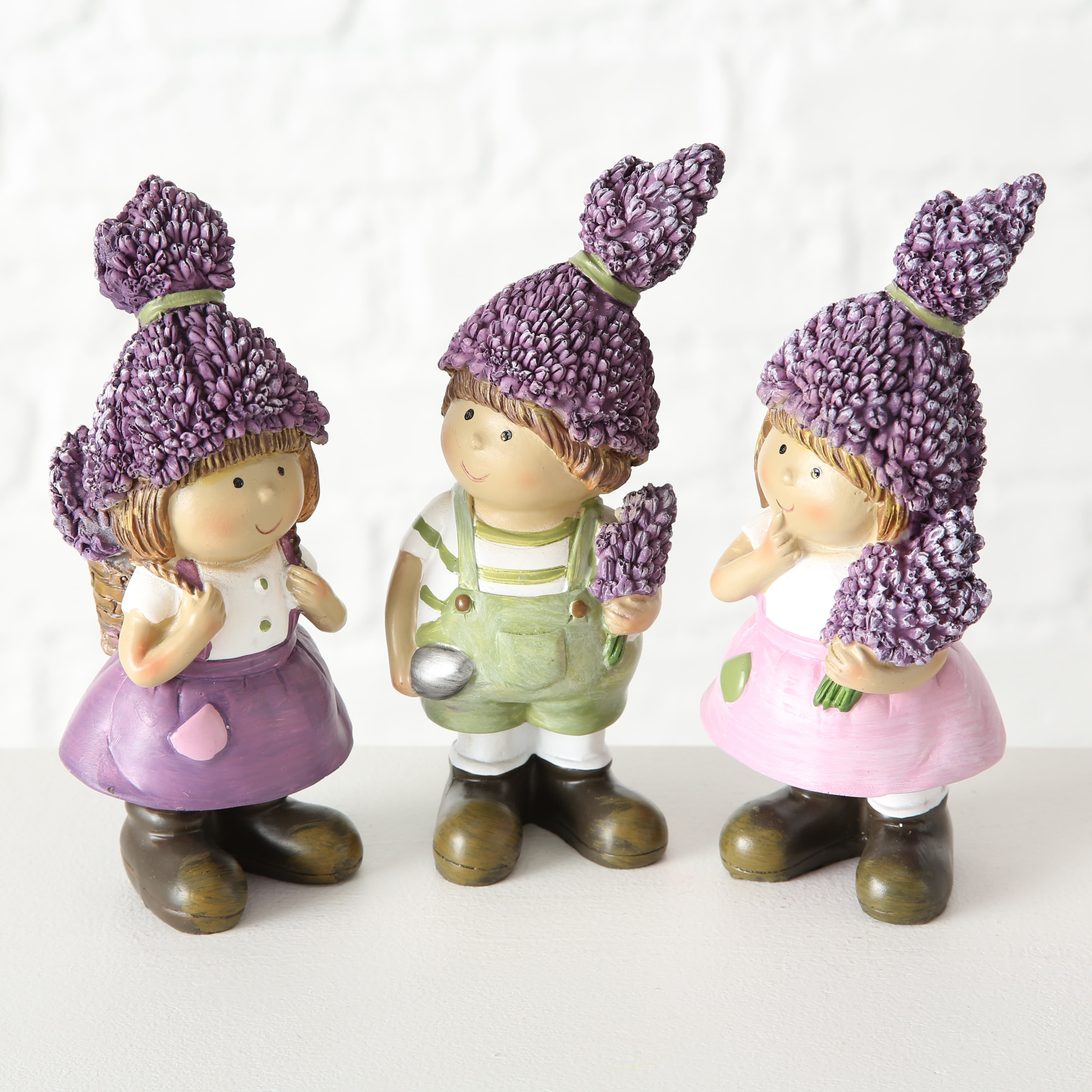 Figurina decorativa din polirasina Lavender Multicolor, Modele Asortate, l6xA6xH16 cm poza