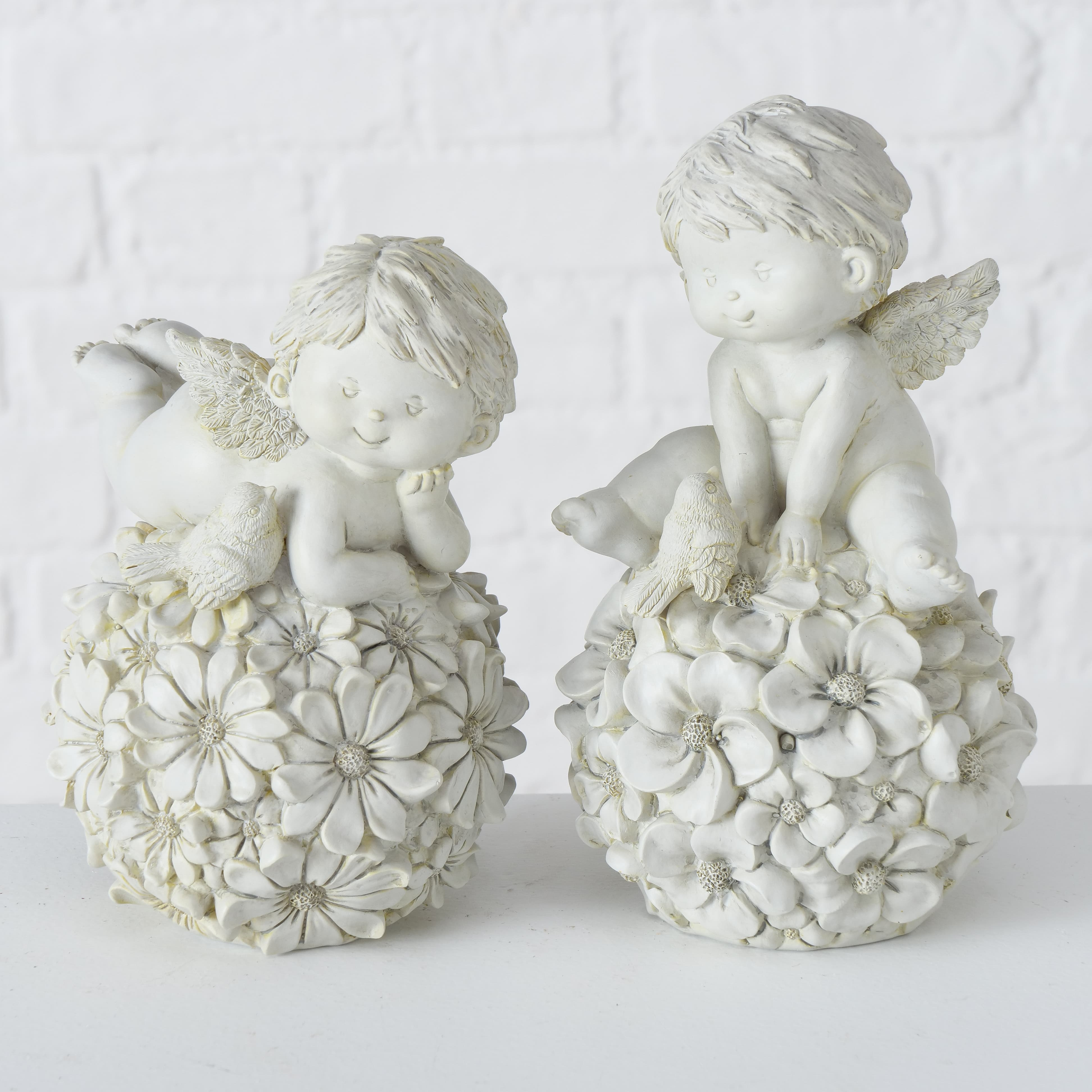 Figurina decorativa din polirasina Milvo Angel Gri deschis, Modele Asortate, l11xA11xH19 cm poza