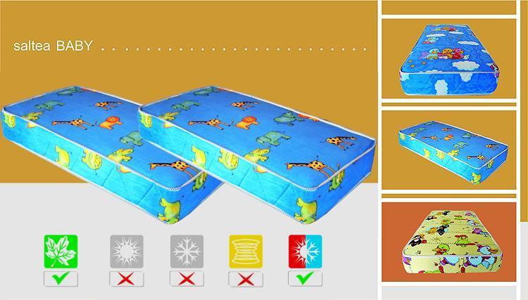 Saltea pentru copii din spuma poliuretanica, 8 cm