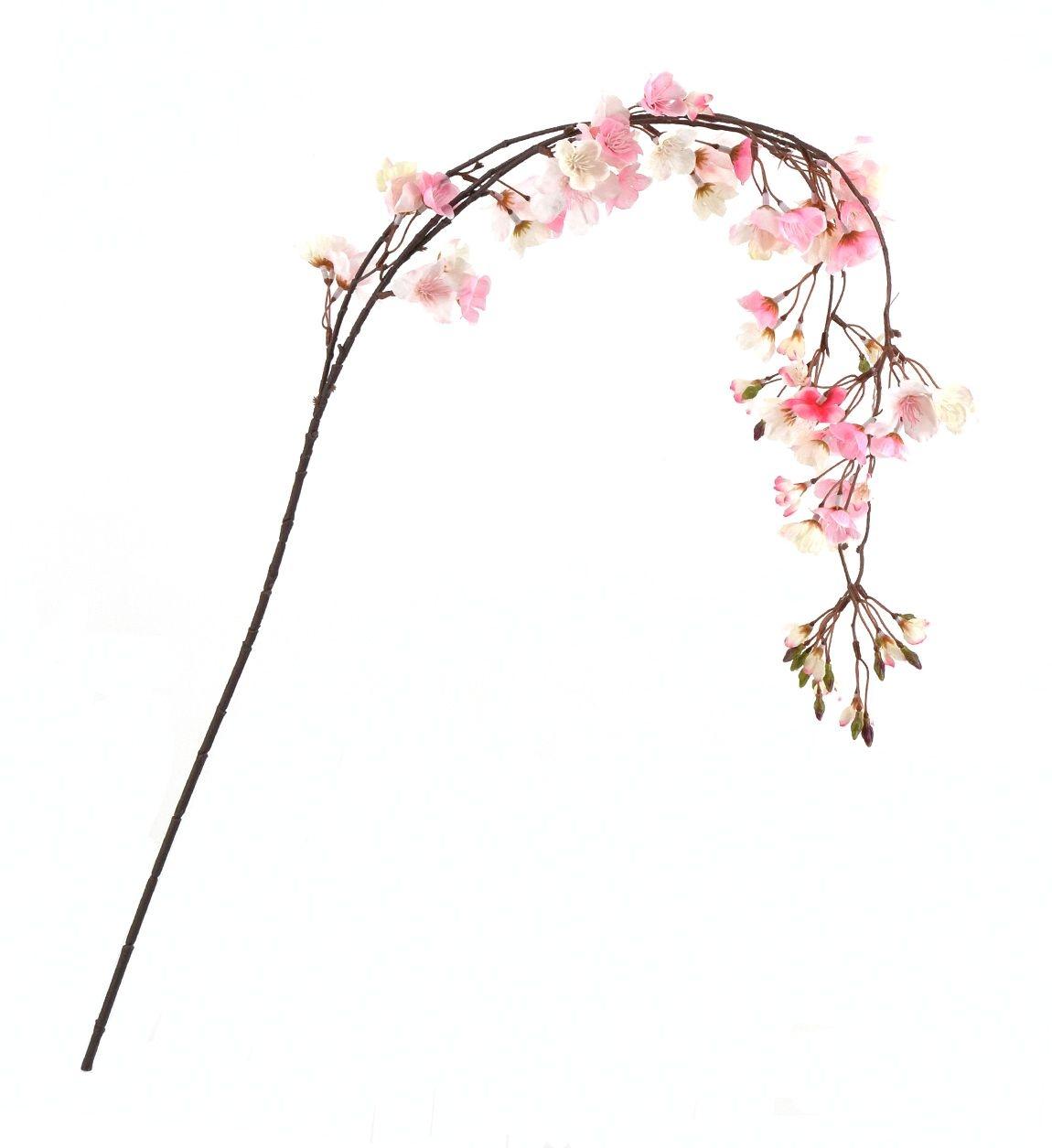 Fir floare artificiala Blossom Roz, 130 cm poza