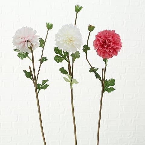 Fir floare artificiala Cherry Dahlia Multicolor, Modele Asortate, H71 cm imagine