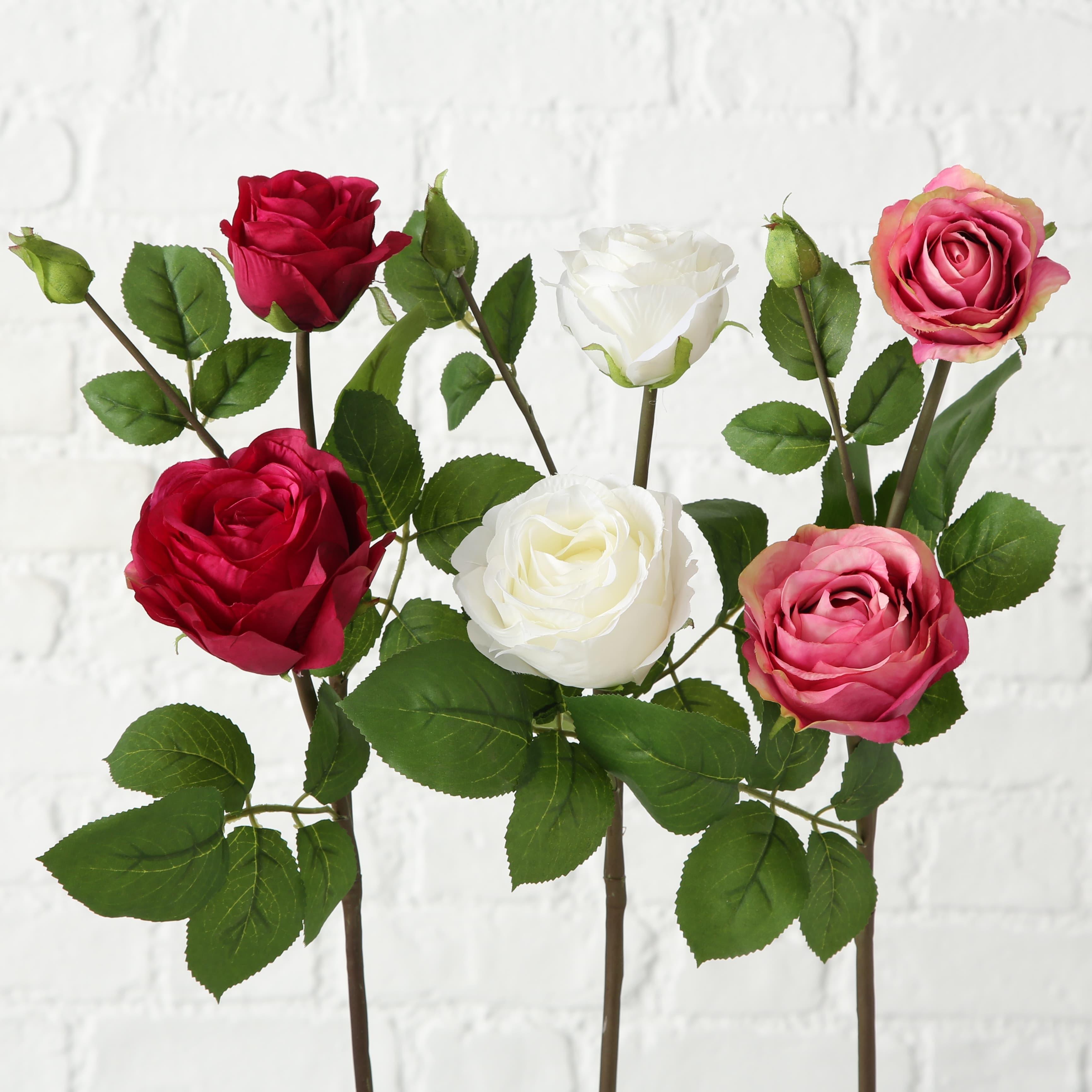 Fir floare artificiala Flowery Multicolor, Modele Asortate, H63 cm imagine