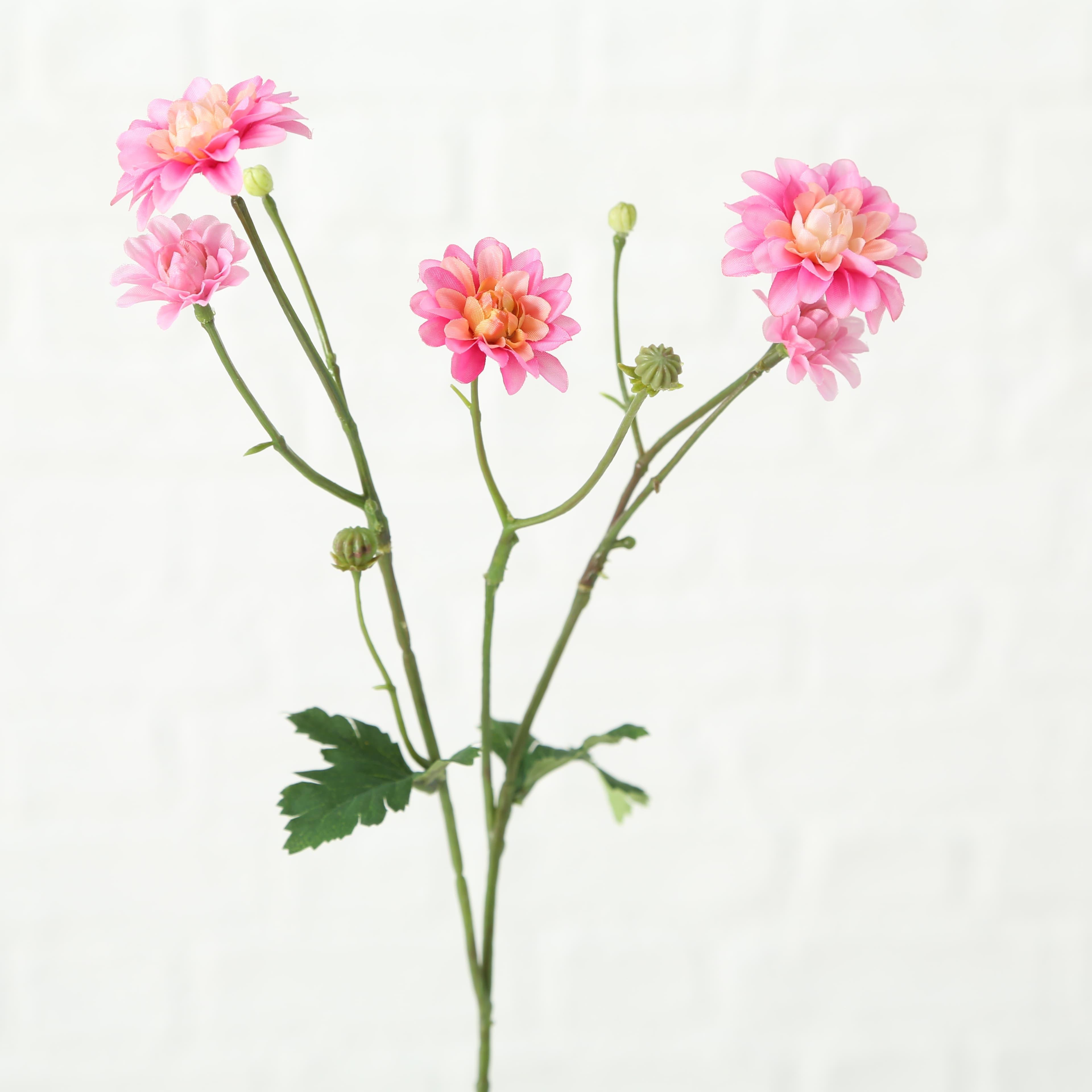 Fir floare artificiala Korbblutler Roz / Verde, H48 cm imagine