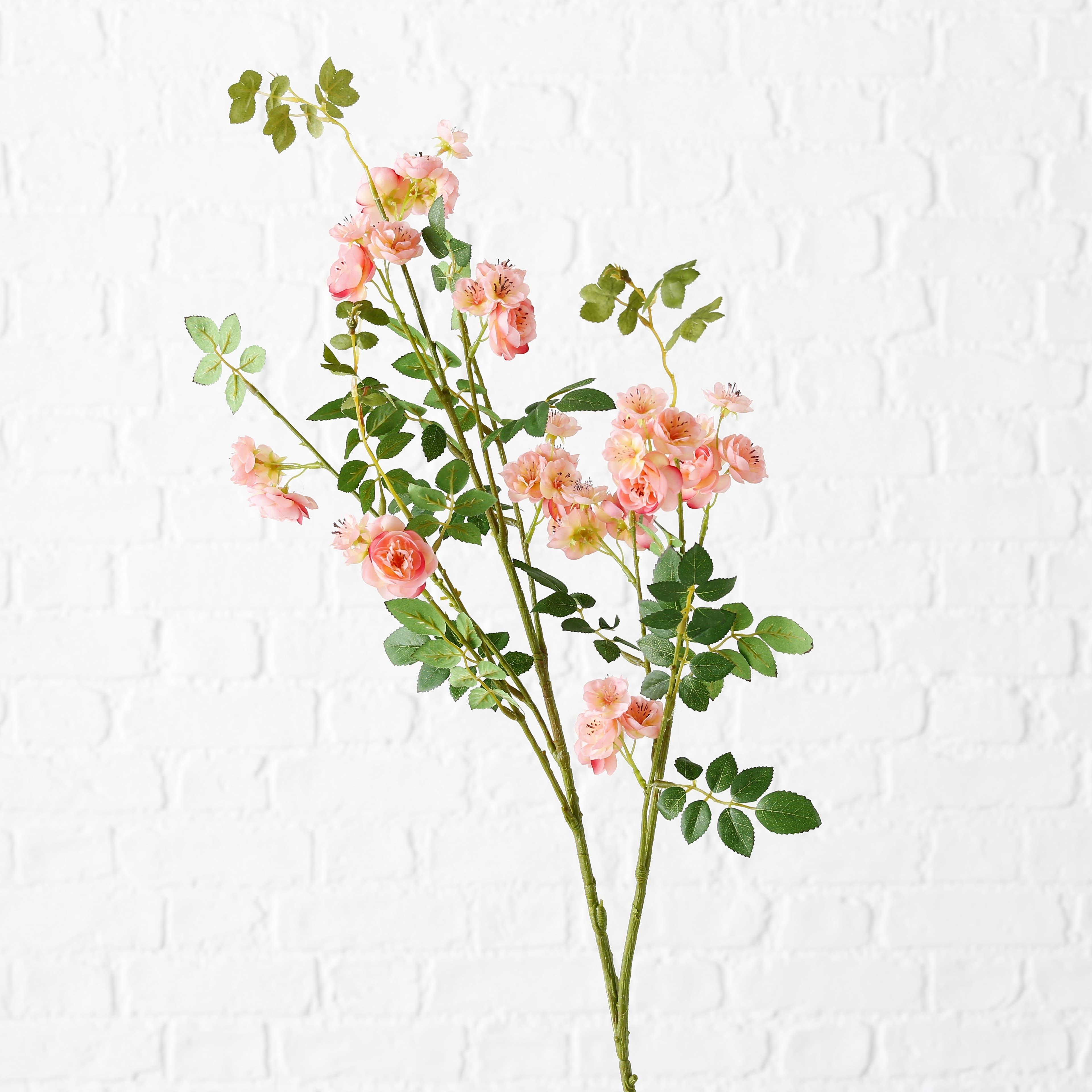Fir floare artificiala Peach Multicolor, H105 cm imagine
