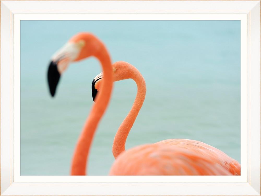 Tablou Framed Art Flamingo Couple