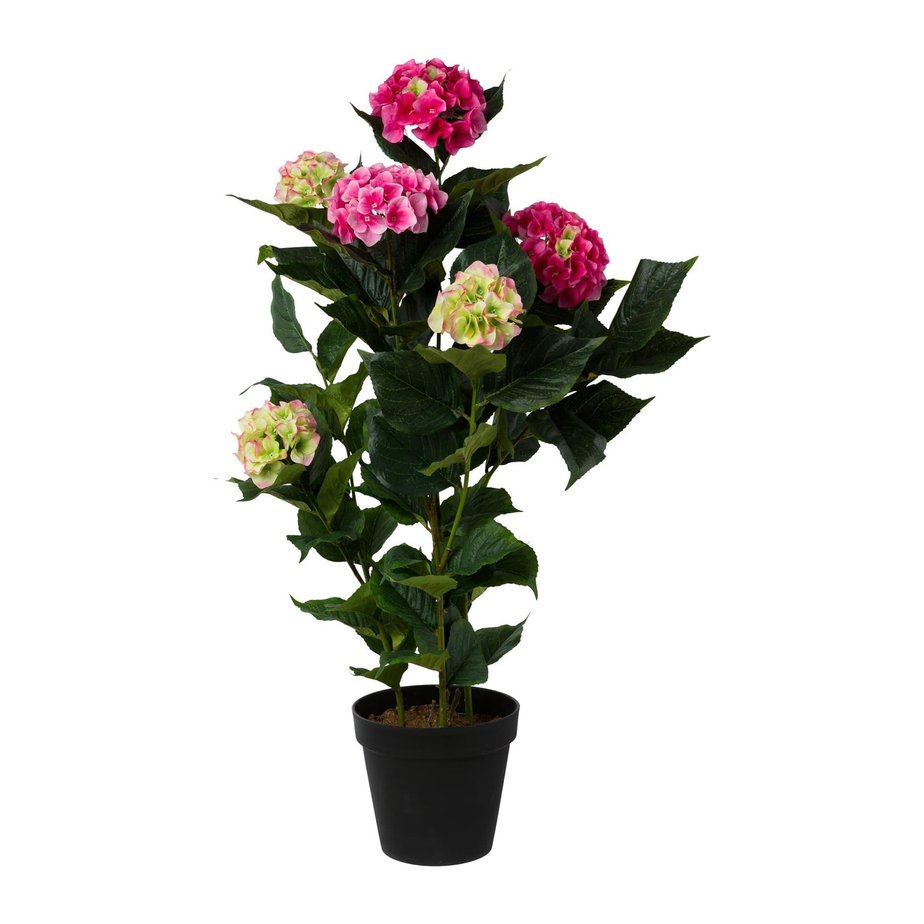Poza Floare artificiala in ghiveci, Hydrangea Roz, H109 cm