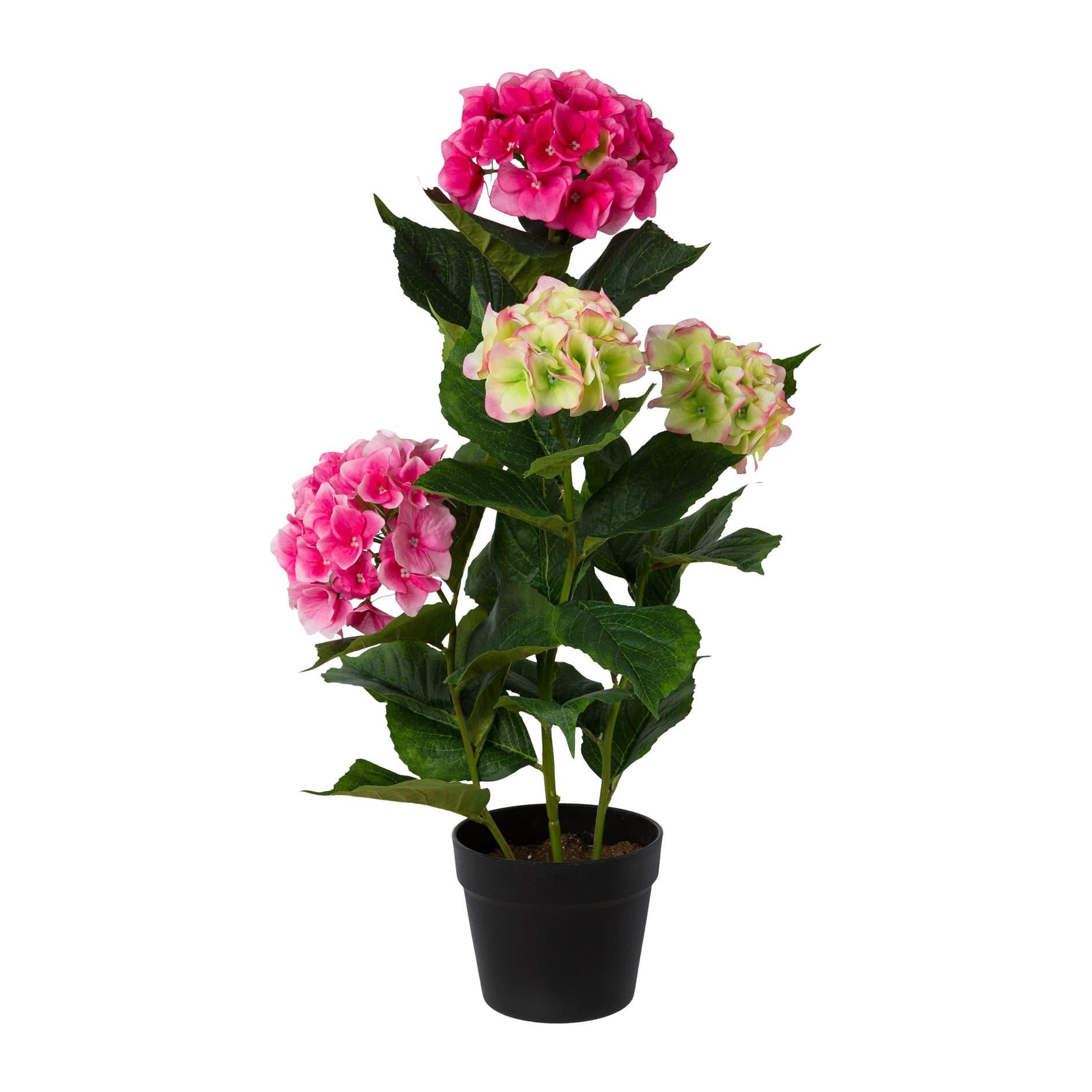 Poza Floare artificiala in ghiveci, Hydrangea Roz, H69 cm