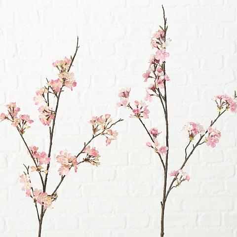 Floare artificiala Kirschblüte Roz, H107 cm, 2 bucati imagine