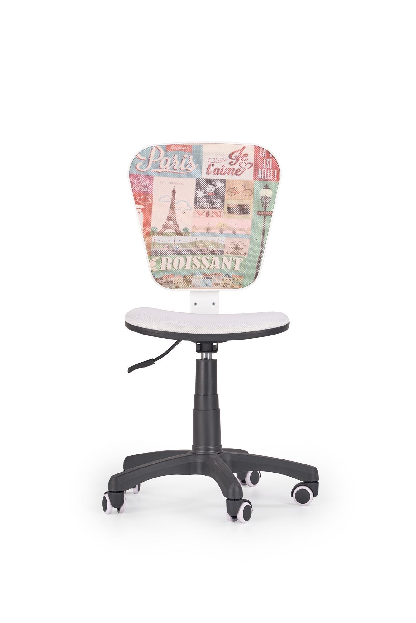 Scaun de birou pentru copii, tapitat cu stofa Flyer Paris, l53xA52xH83-95 cm poza