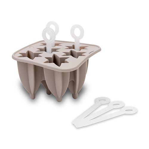 Forma din silicon pentru inghetata, 6 compartimente Misty Gri, L14,5xl14,5xH10 cm