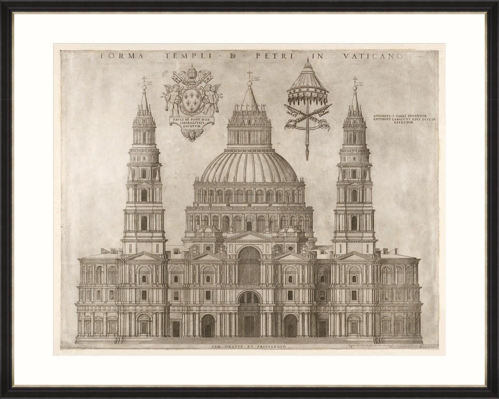 Tablou Framed Art Forma Templi Petri Vaticano
