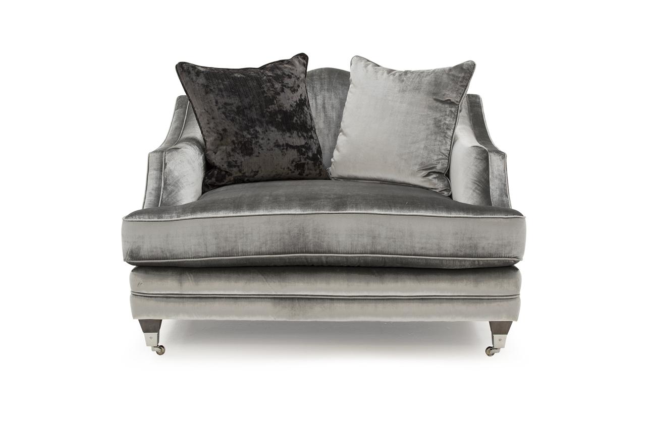 Fotoliu fix tapitat cu stofa Belvedere Snuggle Grey l124xA107xH90 cm