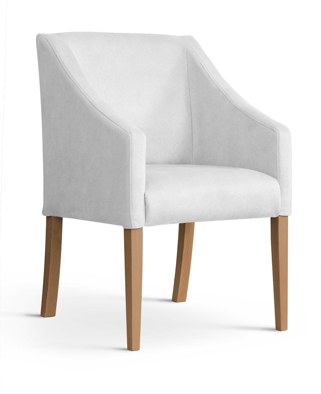 Fotoliu fix tapitat cu stofa, cu picioare din lemn Capri Silver / Oak, l58xA60xH89 cm imagine