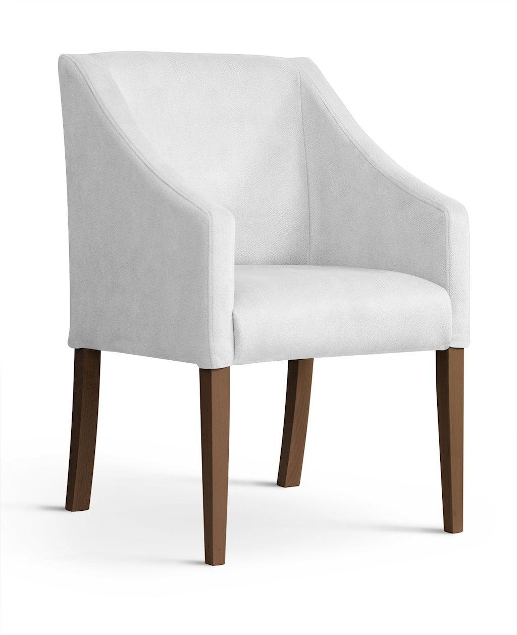 Fotoliu fix tapitat cu stofa, cu picioare din lemn Capri Silver / Walnut, l58xA60xH89 cm imagine