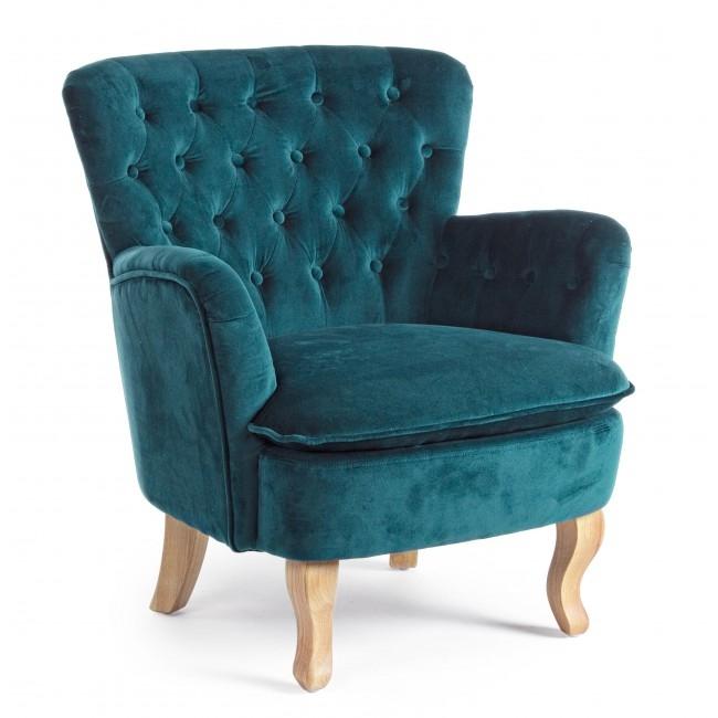 Fotoliu fix tapitat cu stofa, cu picioare din lemn Orlins Verde inchis, l71,5xA72,5xH79 cm din categoria Fotolii Fixe