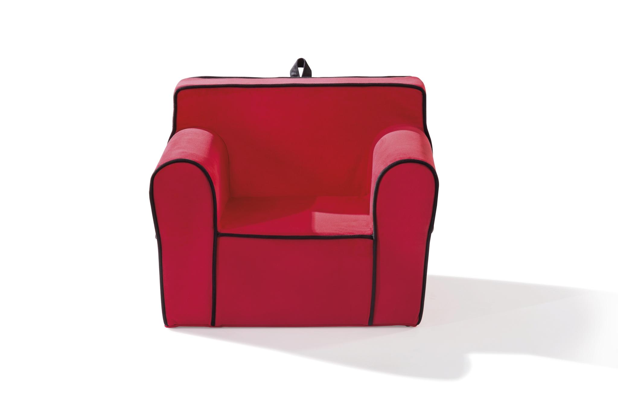 Fotoliu pentru copii tapitat cu stofa Comfort Red, l61xA49xH52 cm imagine