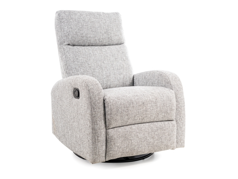 Fotoliu Recliner tapitat cu stofa Olimp Gri, l72xA80xH101 cm imagine