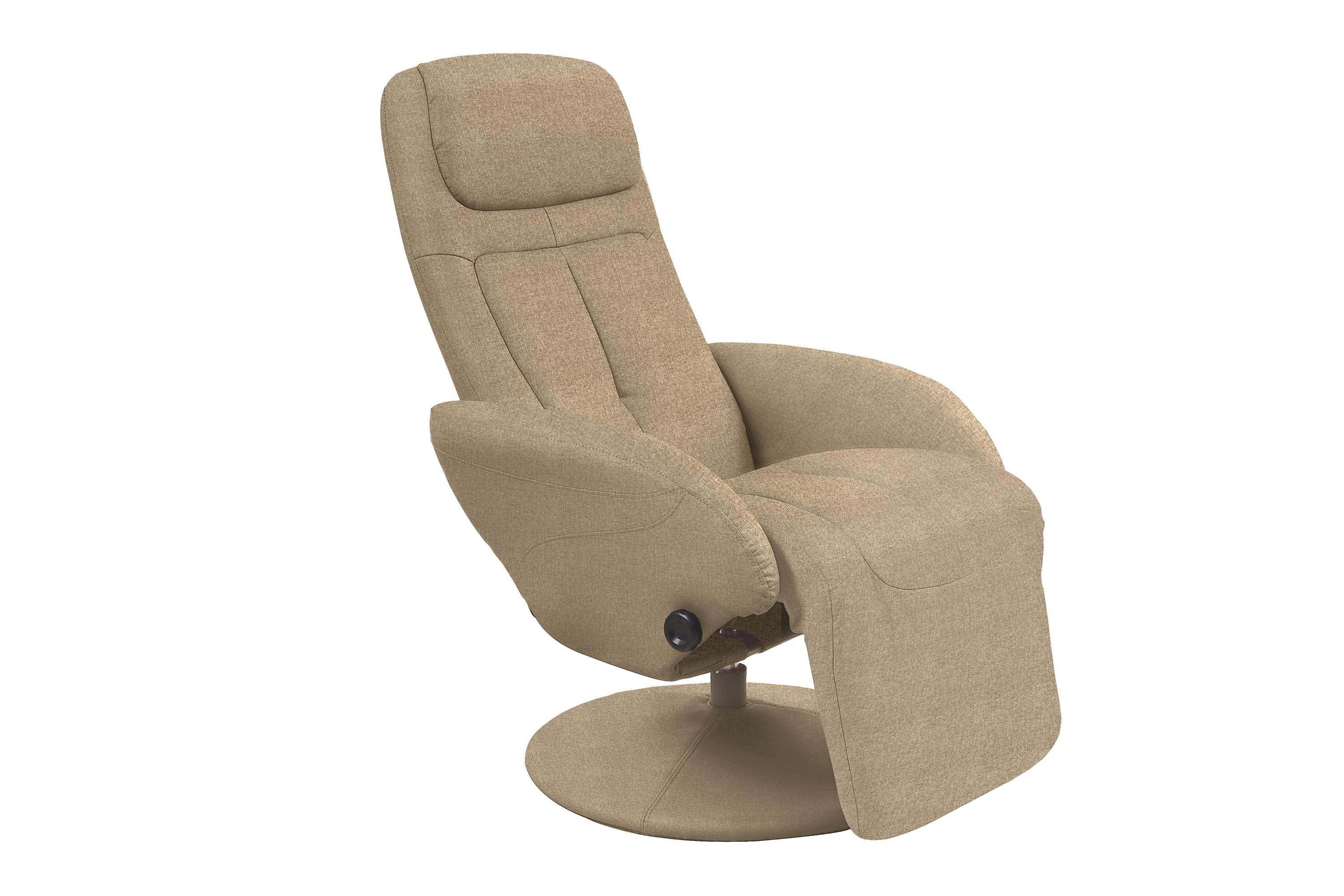 Fotoliu Recliner tapitat cu stofa Optima 2 Bej, l77xA80xH101 cm imagine