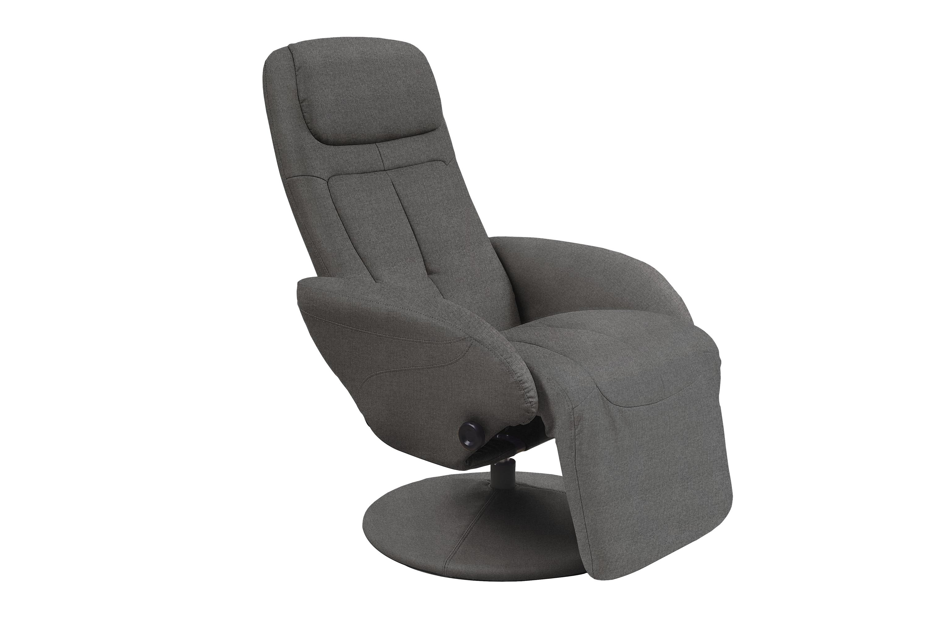 Fotoliu Recliner tapitat cu stofa Optima 2 Gri inchis, l77xA80xH101 cm imagine