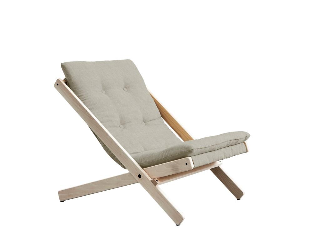 Fotoliu Relaxare stofa si cadru lemn de fag Boogie Raw Linen l65xA88xH67 cm