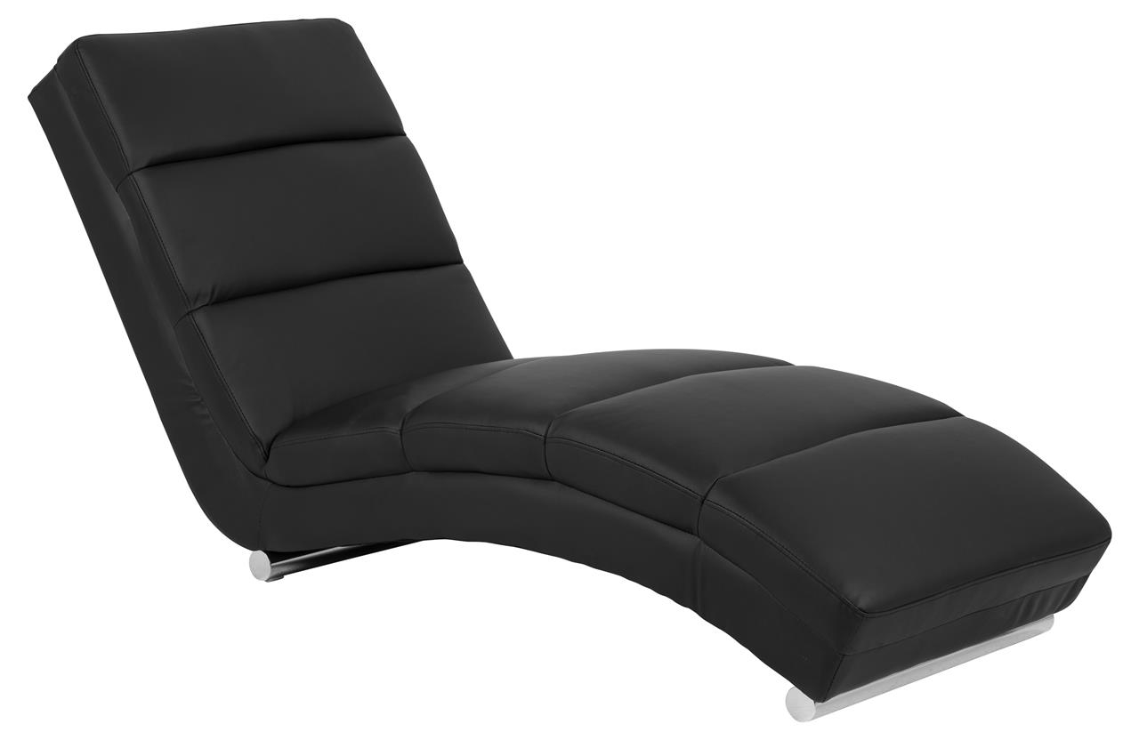 Fotoliu Relaxare tapitat cu piele ecologica Slinky Negru, l60xA170xH82 cm