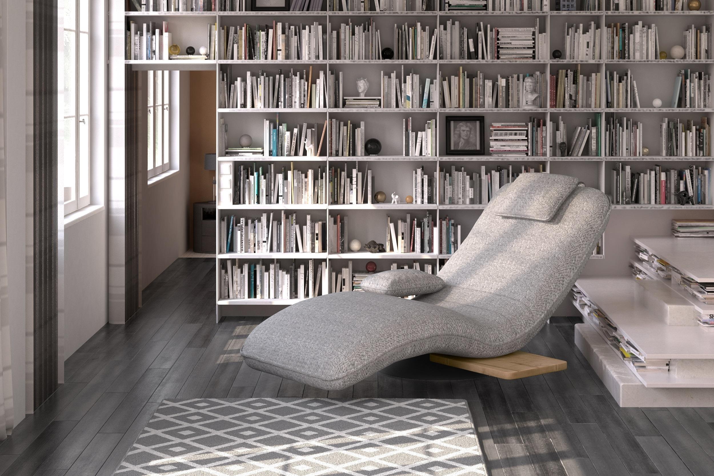 Fotoliu sezlong relaxare, tapitat cu stofa Evo Gri, l78xA163xH86 cm imagine