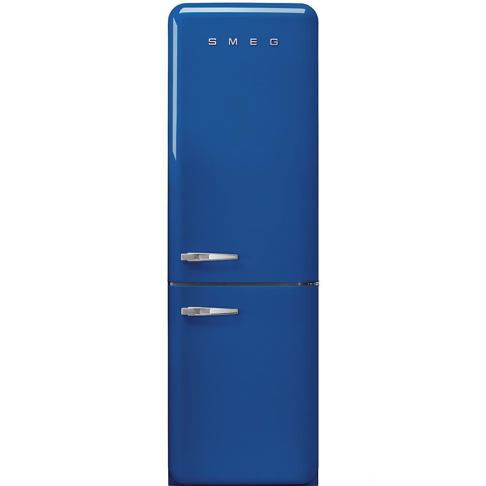 Frigider 2 usi cu deschidere dreapta FAB32RBLN1 Albastru 60 cm Retro 50 SMEG