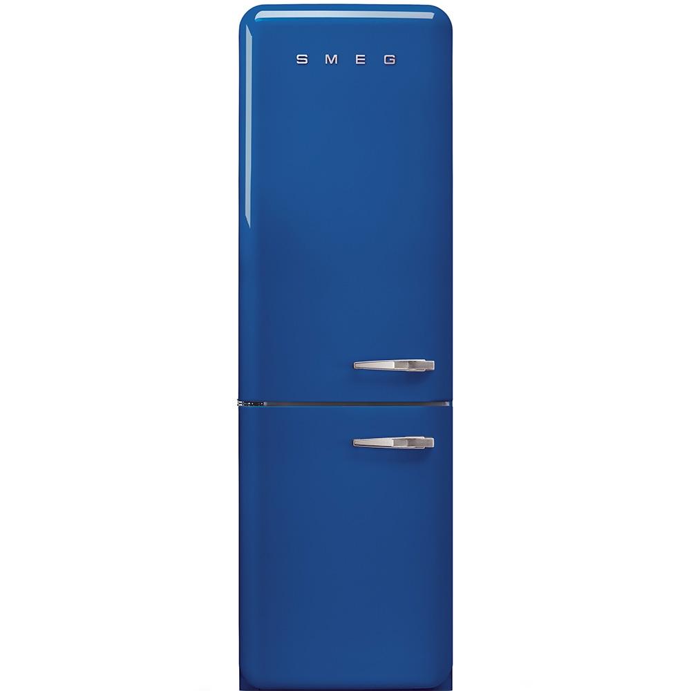 Frigider 2 usi cu deschidere stanga FAB32LBLN1 Albastru 60 cm Retro 50 SMEG
