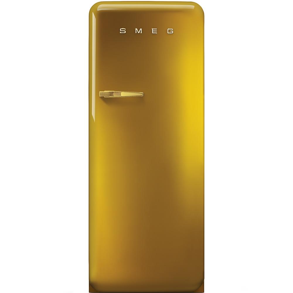 Frigider cu o usa deschidere dreapta FAB28RDG Gold Swarovski 60 cm Retro 50 SMEG