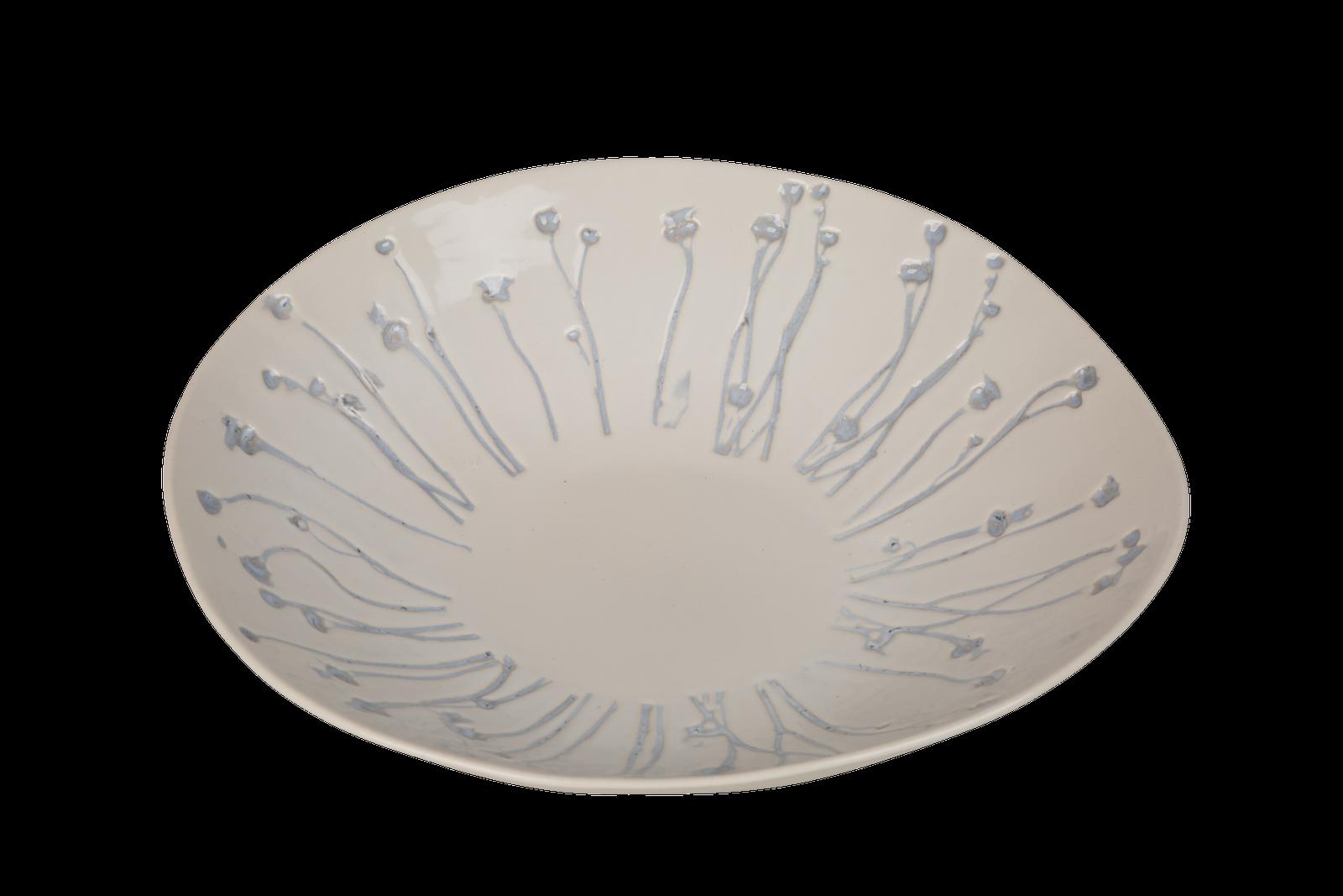 Fructiera ceramica Atmosphere White / Dusty Blue O 32 cm