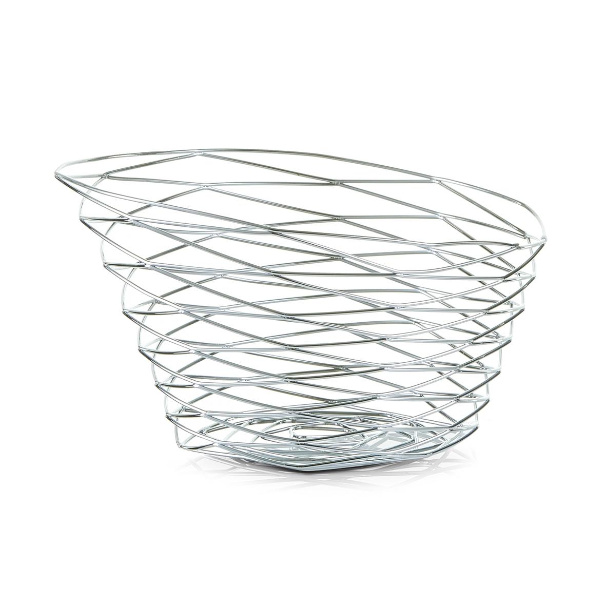 Fructiera Elegant, Metal Cromat, Ø 22xH12 cm