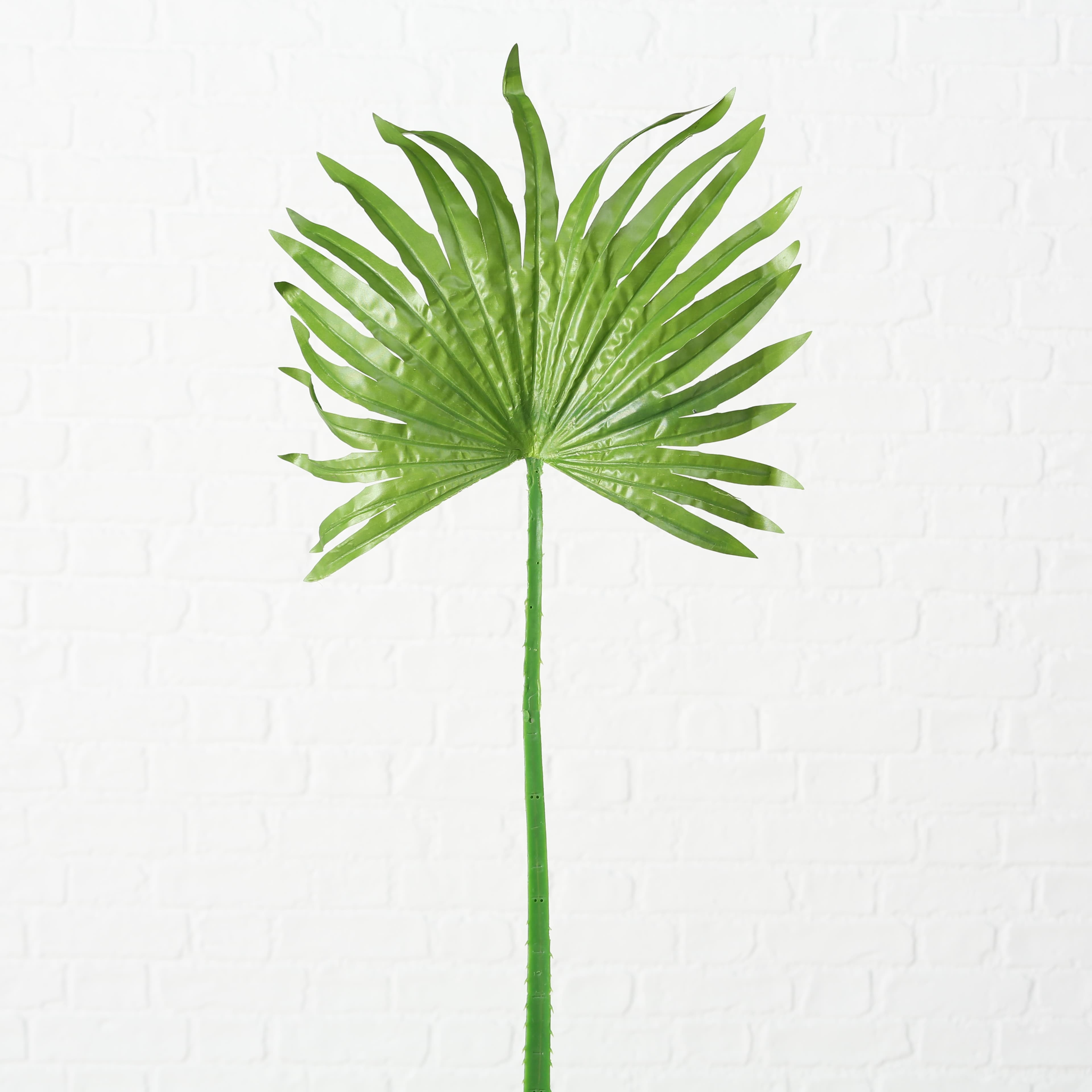Frunza decorativa artificiala Blatt Palm Verde, H97 cm imagine