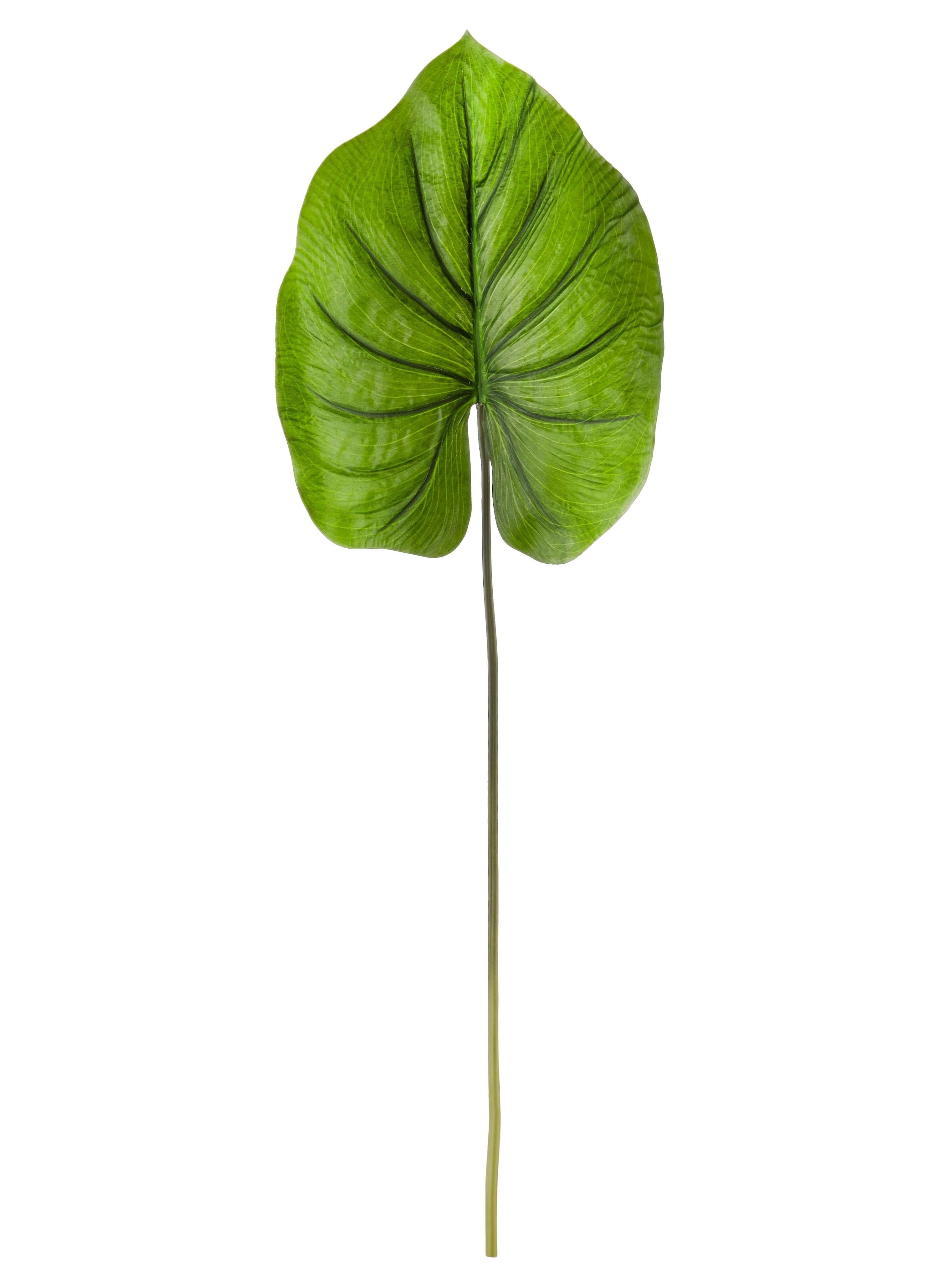 Frunza decorativa artificiala Diamond Leaf Verde, H30 cm imagine