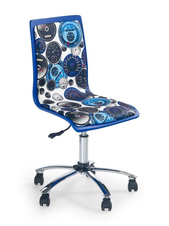 Scaun de birou pentru copii Fun 8 alb-albastru