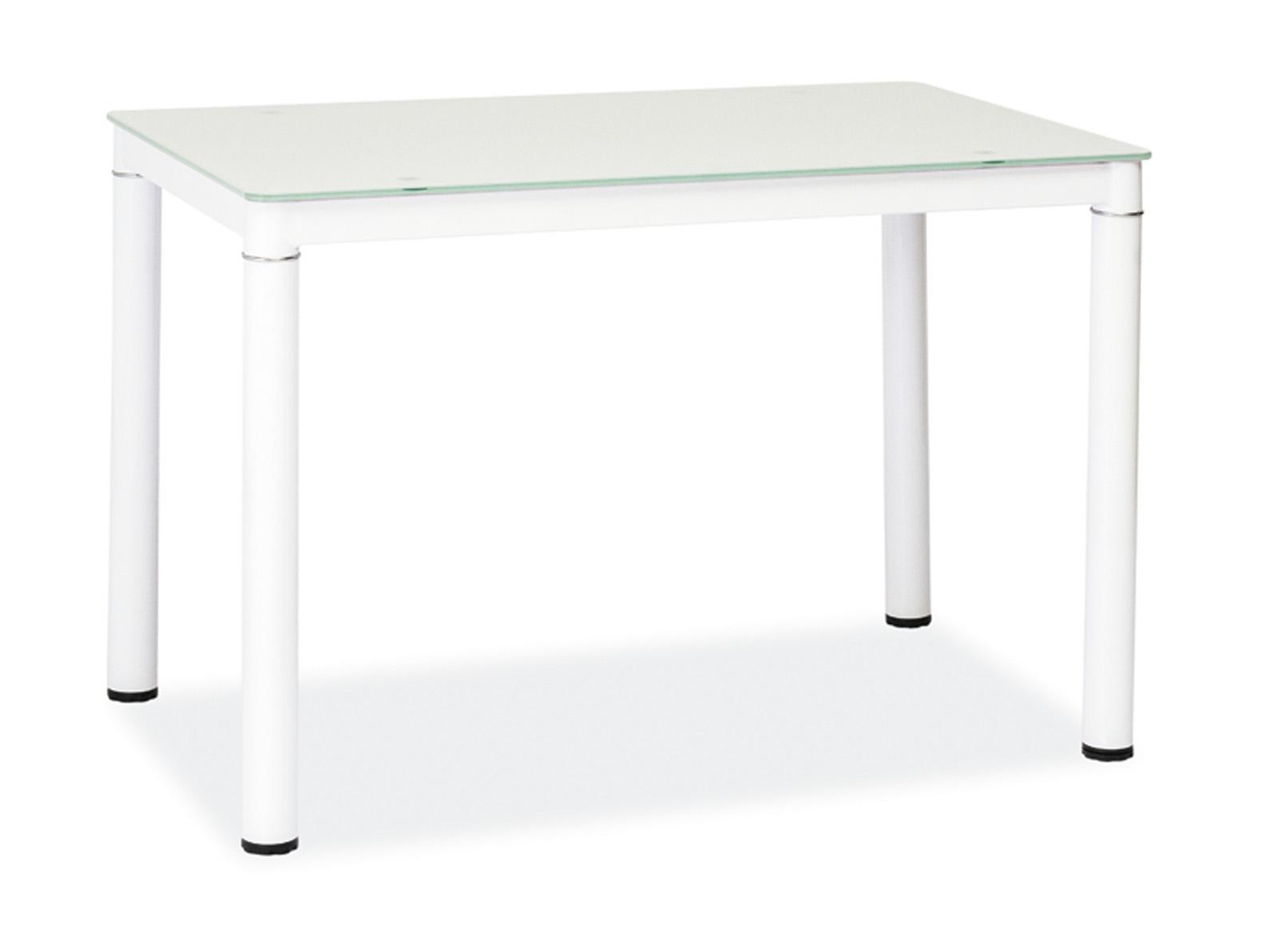 Masa din sticla Galant White, L100xl60xh75 cm