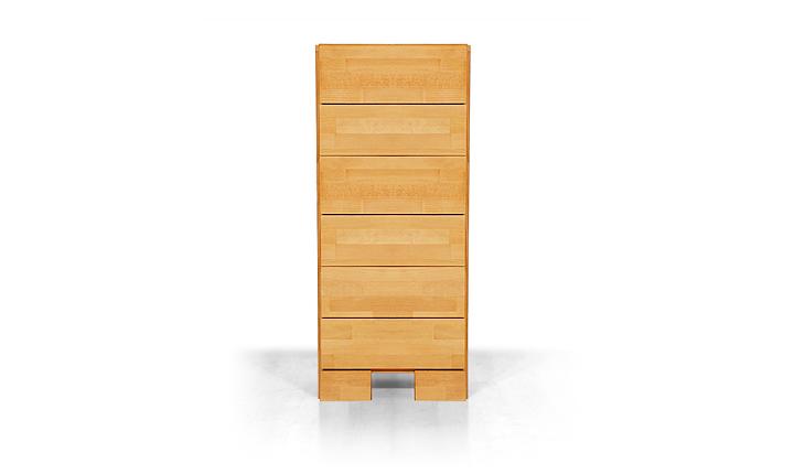 Dulap cu sertare din lemn masiv de fag Seti 400 natural