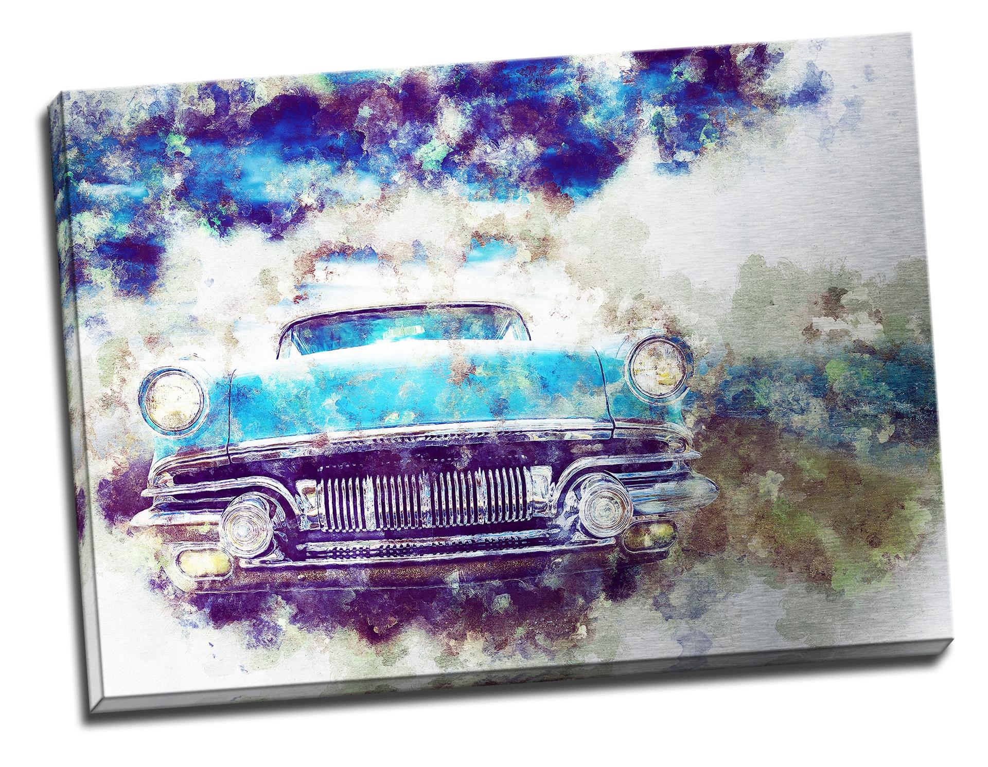 Tablou din aluminiu striat Blue Ride