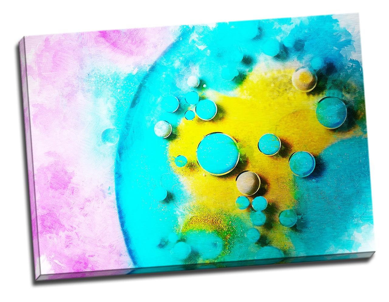 Tablou din aluminiu striat Bubbles of Joy