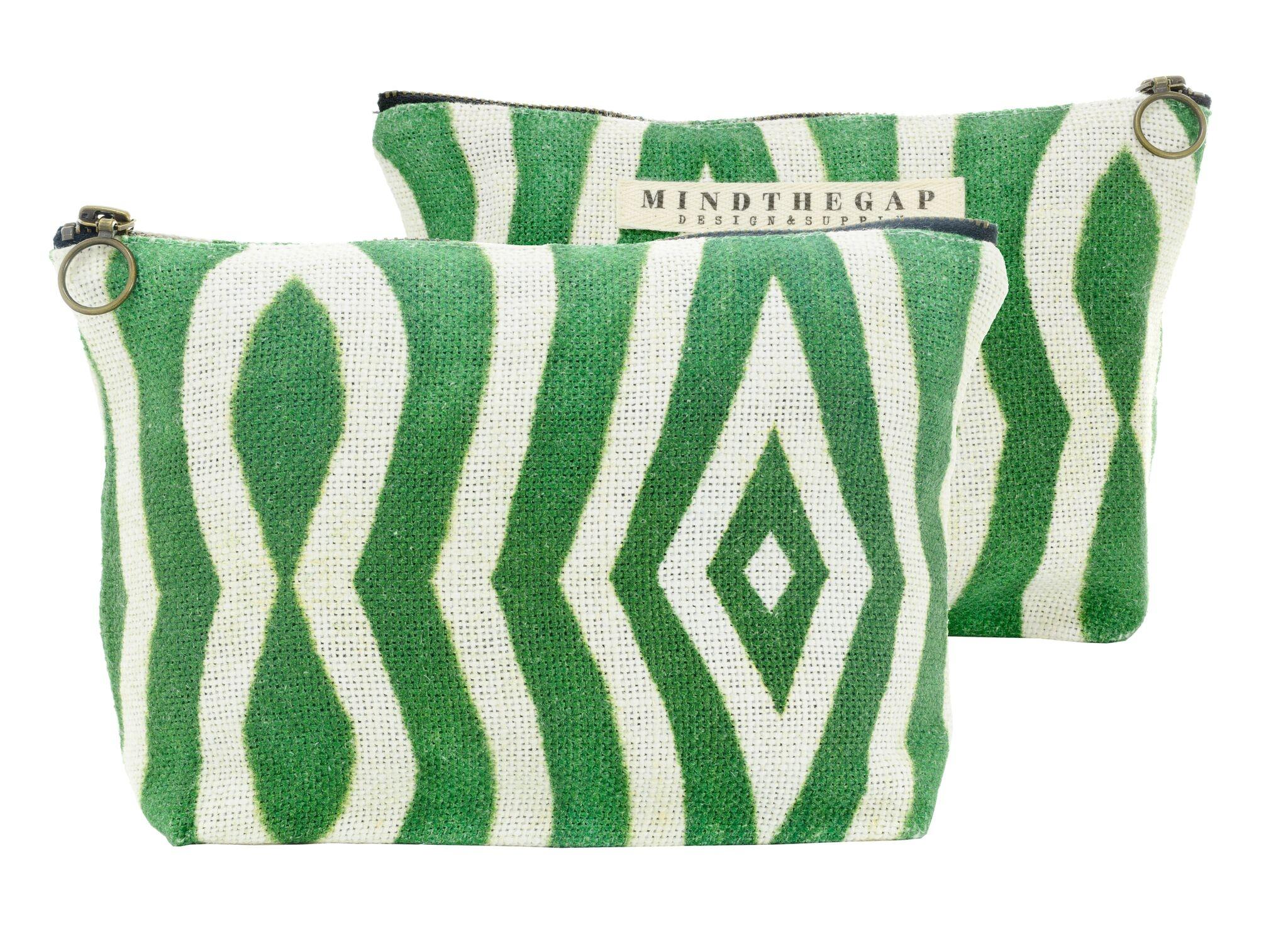 Geanta de cosmetice Riverside Green / White, l23xA4xH15,5 cm imagine
