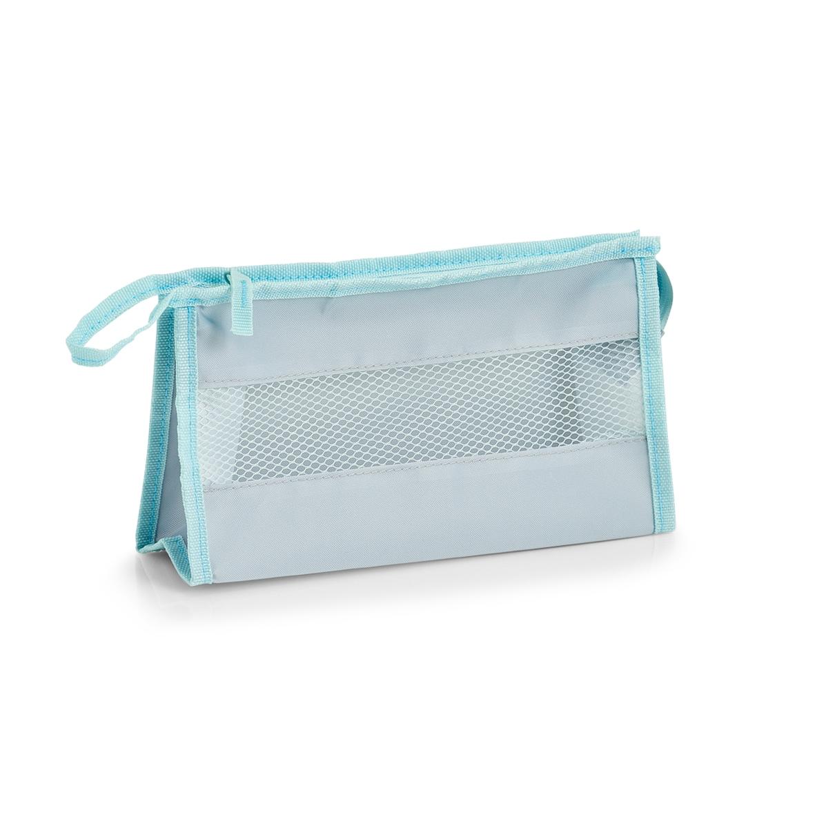 Geanta de cosmetice Suitcase Gri Deschis, l26xA9xH15 cm poza