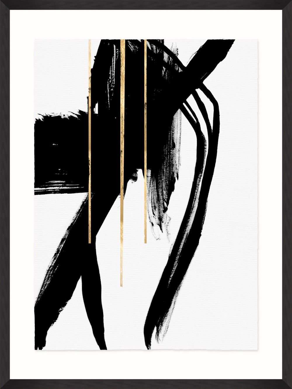 Tablou Framed Art Gestural Abstraction I