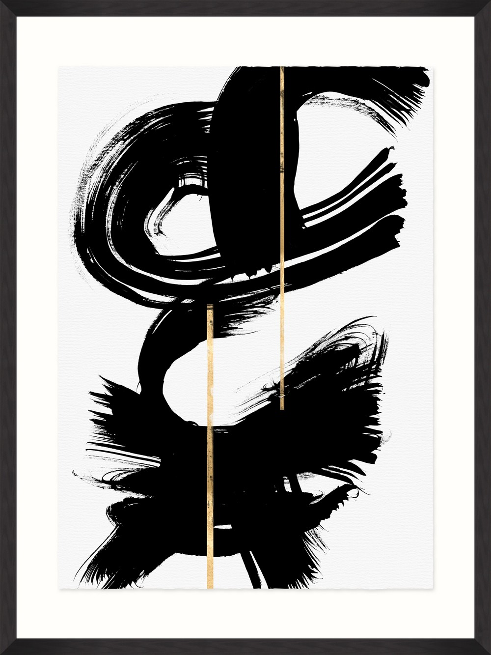 Tablou Framed Art Gestural Abstraction V