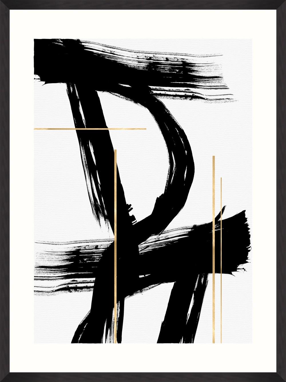 Tablou Framed Art Gestural Abstraction VI