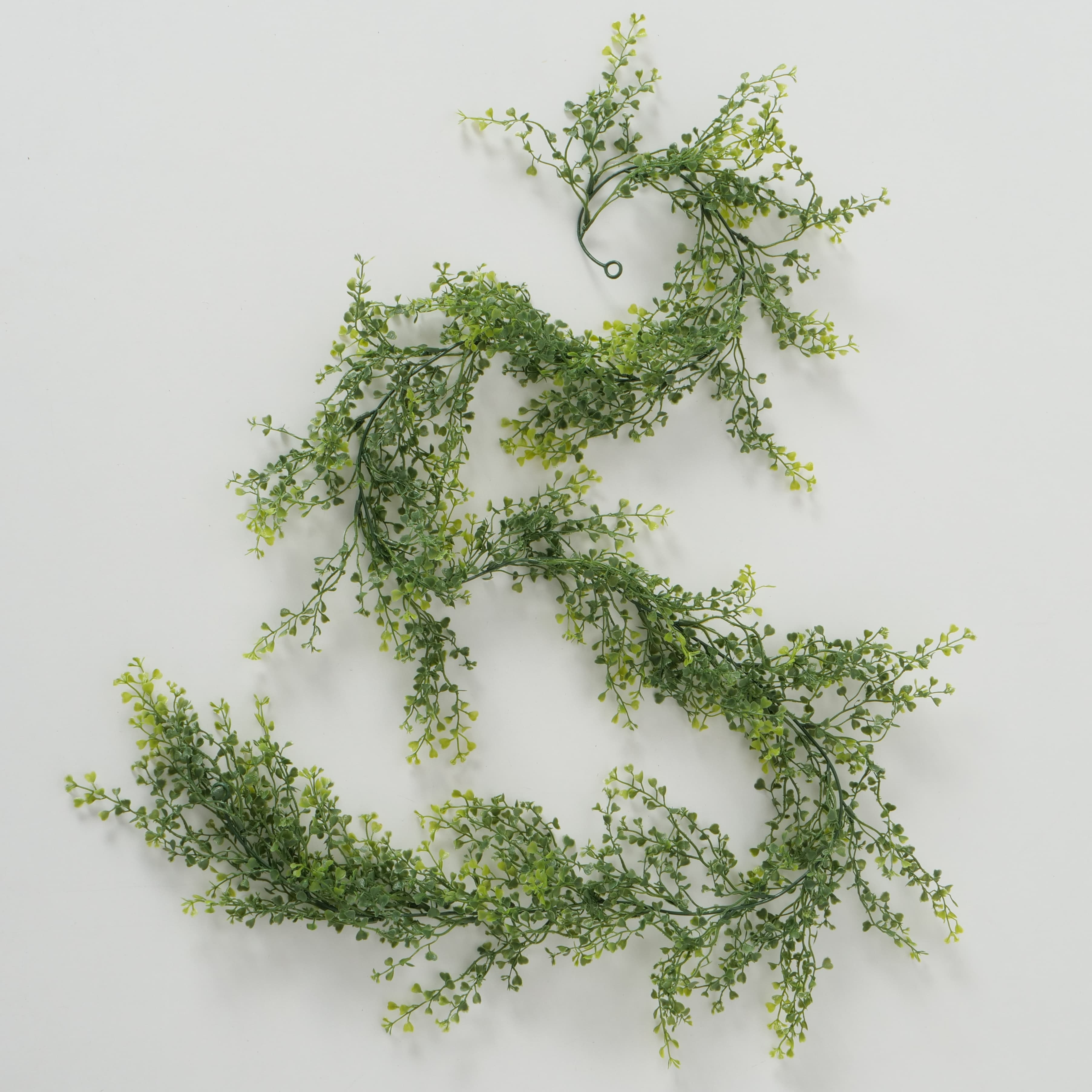 Ghirlanda decorativa din frunze artificiale Greenish Phyllanthus Verde, L170 cm imagine