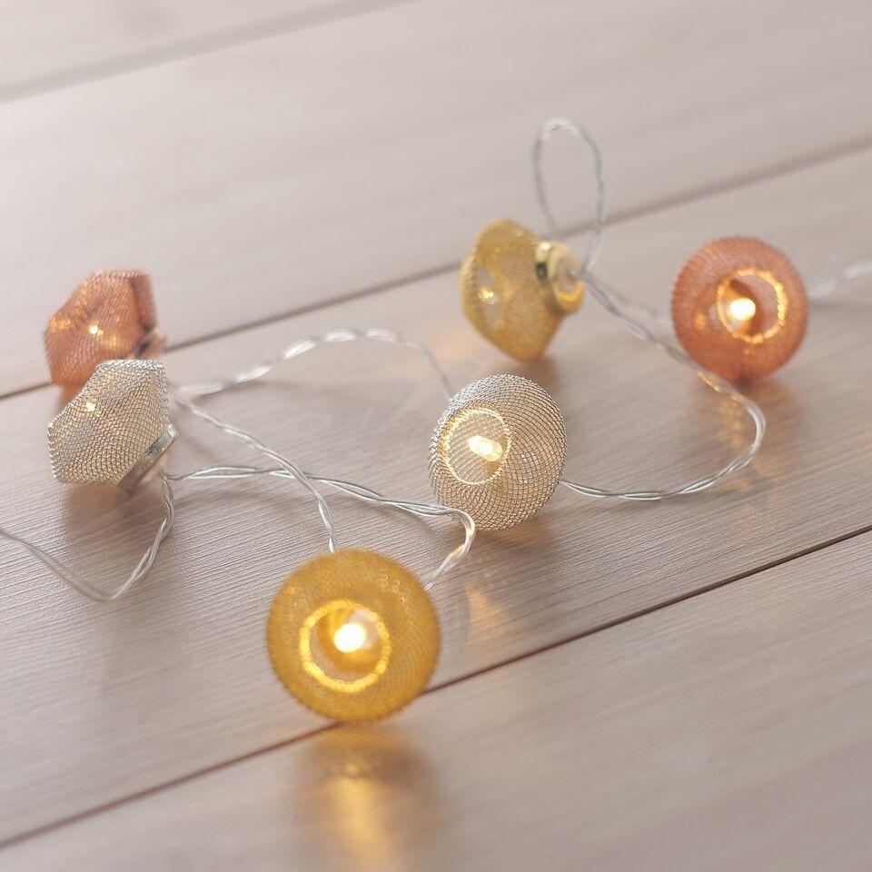Ghirlanda luminoasa decorativa cu 10 de LED-uri Morocco Copper / White L165 cm