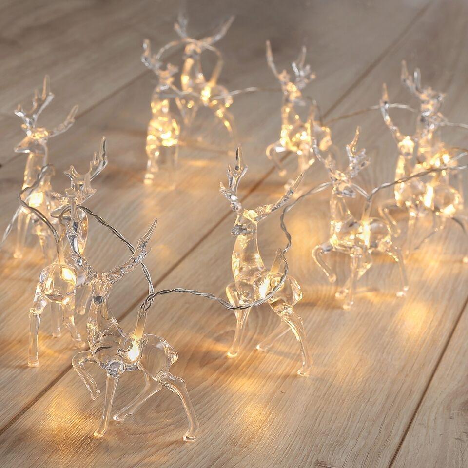 Ghirlanda luminoasa decorativa cu 10 de LED-uri Reindeer Transparent L165 cm