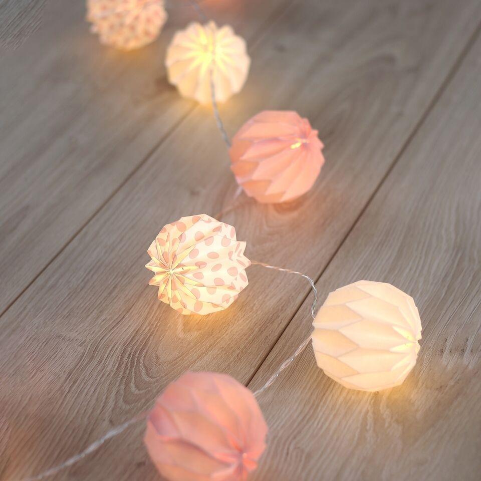 Ghirlanda luminoasa decorativa cu 10 LED-uri Caroo White / Powder Pink L165 cm