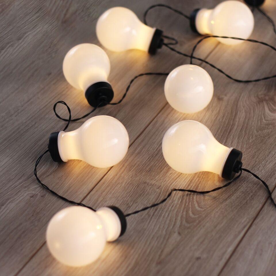 Ghirlanda luminoasa decorativa cu 10 LED-uri Cocco White / Black L220 cm