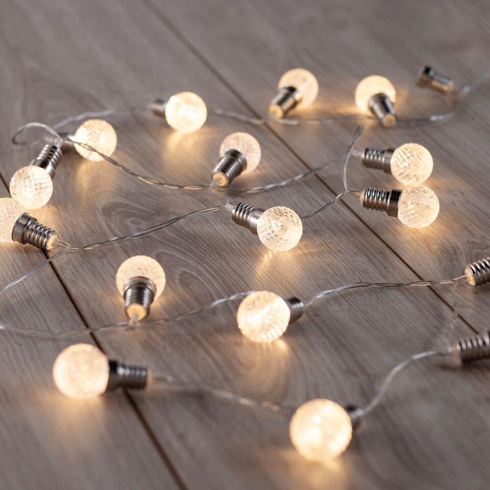 Ghirlanda luminoasa decorativa cu 20 de LED-uri Lou Transparent L240 cm
