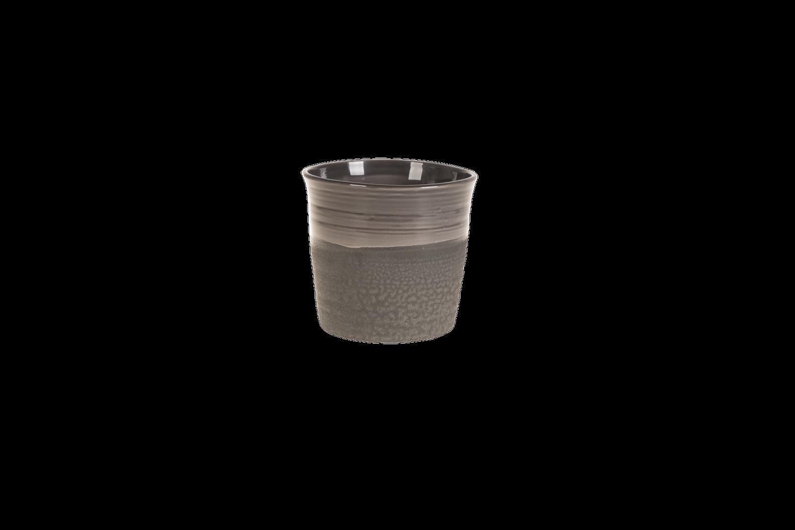 Set 4 ghivece ceramice Atmosphere Black O 18 cm
